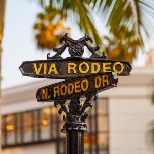 rodeo drive & via rodeo signs