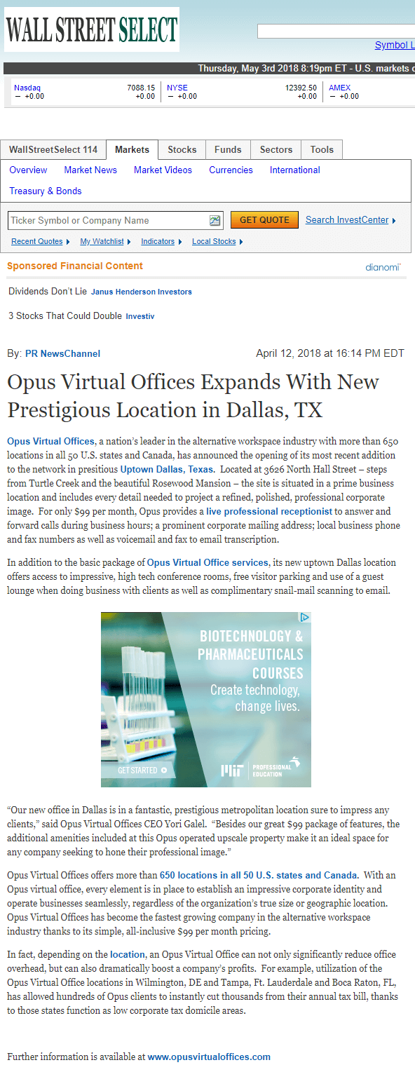 Open a support ticket opus virtual offices opus virtual offices expands with new prestigious location in dallas tx m4hsunfo